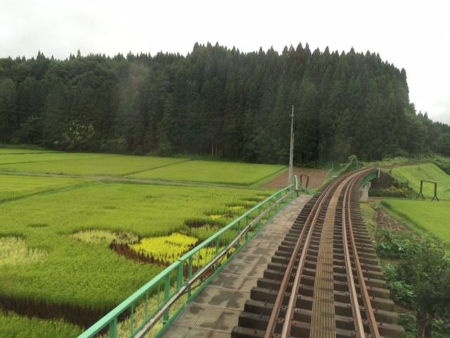 秋田内陸線の田んぼアート_e0162117_2075489.jpg