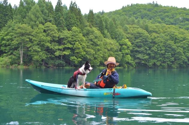 戸隠キャンプ2014⑤ 青木湖でカヤック_a0126590_08583168.jpg