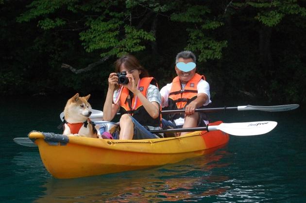 戸隠キャンプ2014⑤ 青木湖でカヤック_a0126590_09332623.jpg