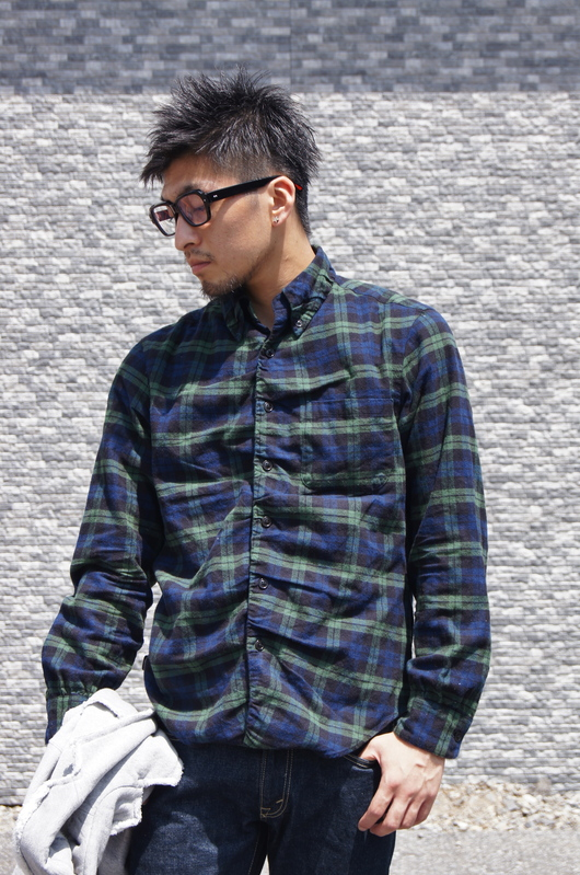 NAISSANCE - GATHERED PLAID SHIRT!!_f0020773_19415474.jpg