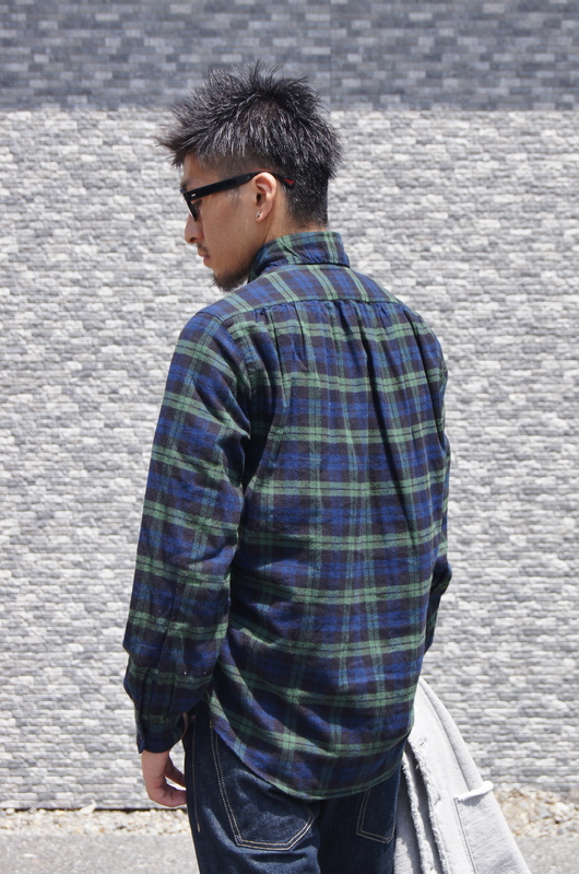 NAISSANCE - GATHERED PLAID SHIRT!!_f0020773_19432331.jpg