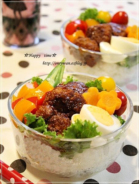 ロコモコ丼弁当♪_f0348032_19195970.jpg