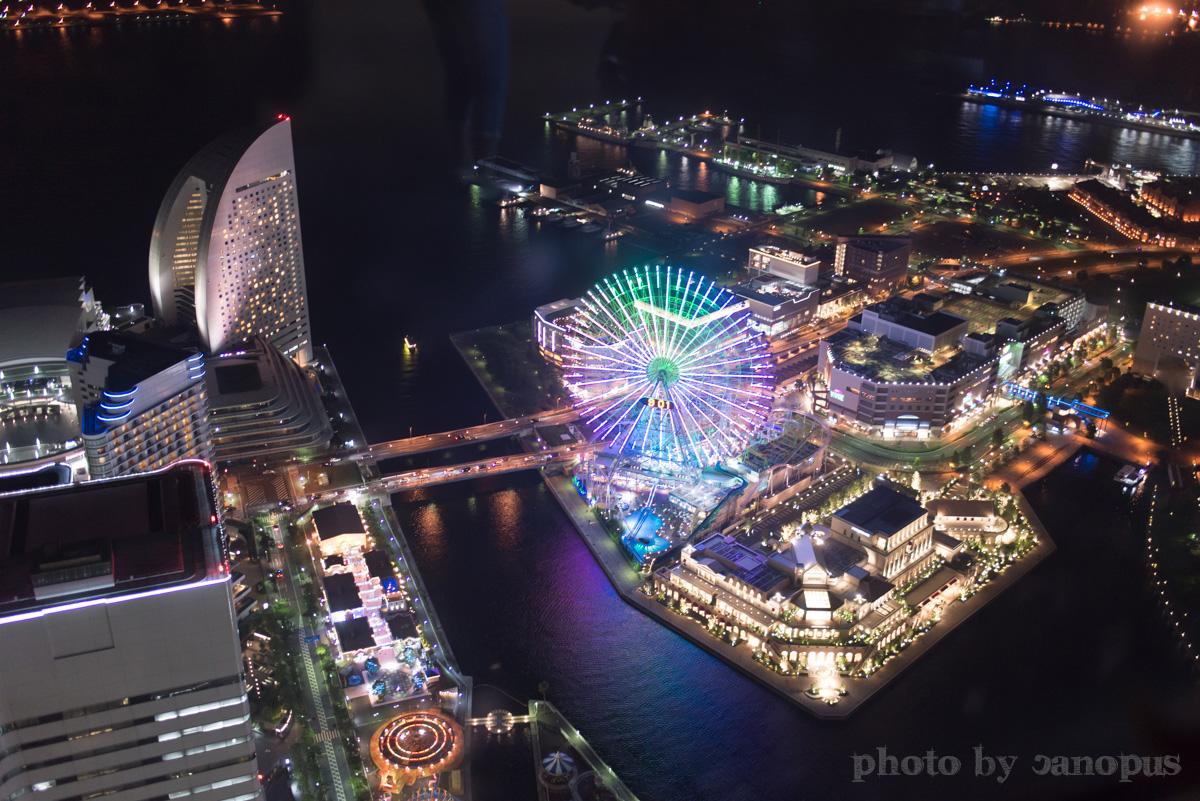 霞ゆく高層ビルからの夜景_e0196140_0365952.jpg
