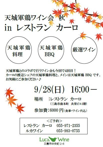 【参加者募集】9/28 ワイン会inカーロ_b0016474_1710614.jpg