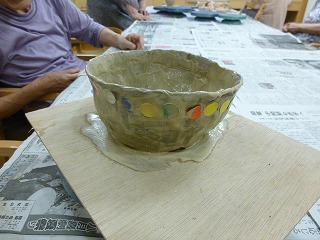 陶芸で鉢作り<アクティブライフ夙川・デイサービス>_c0107602_1444819.jpg