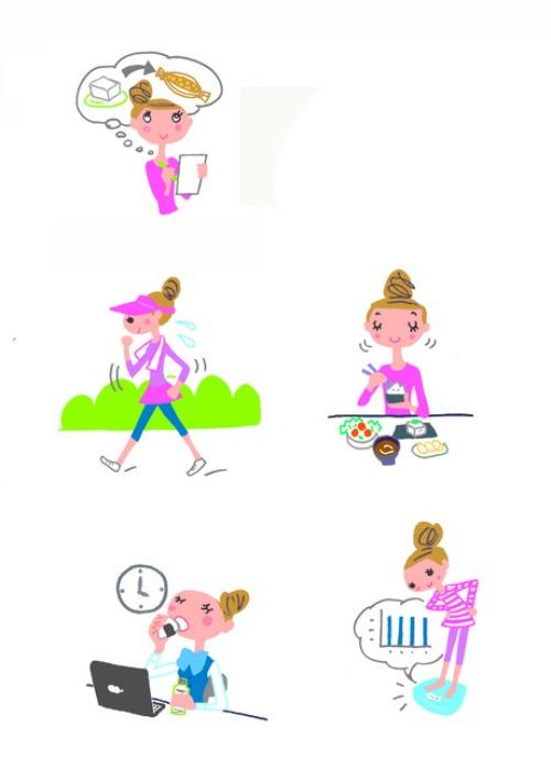 2014. 8/21 学研発行の『フィッテ』10月号イラスト掲載_e0213444_16183071.jpg