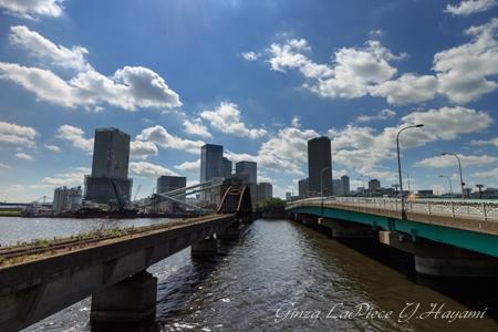 東京の風景 晴海橋梁と春海橋_b0133053_1135974.jpg
