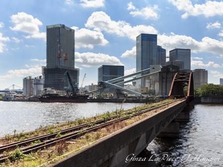 東京の風景 晴海橋梁と春海橋_b0133053_1294962.jpg