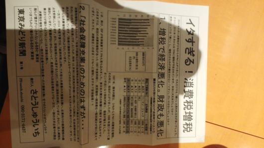 文京区役所前で【イタすぎる消費税増税】と訴え_e0094315_17180357.jpg