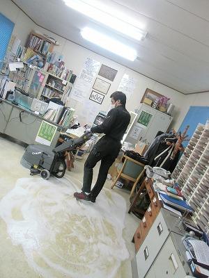 事務所の床そうじ_a0272042_20151524.jpg
