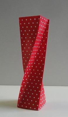 ハート 折り紙:花瓶 折り紙-origami77.exblog.jp