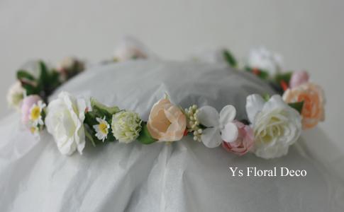 桜の咲くころに 白とピンクの花冠_b0113510_0481223.jpg