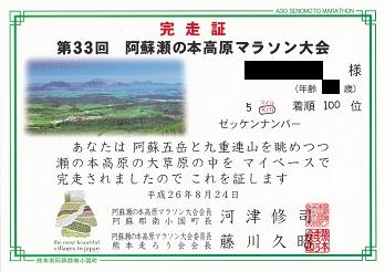 第33回阿蘇・瀬の本高原マラソン大会に出場しました_e0149436_23214451.jpg