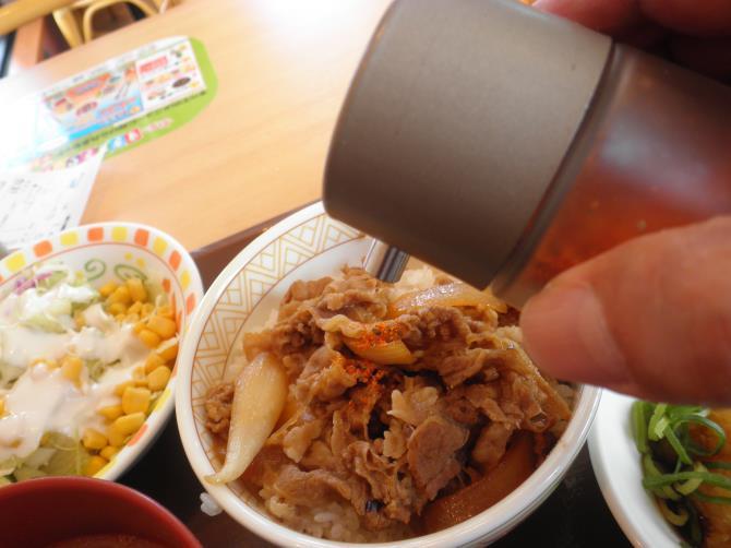 すき家のおろしポン酢牛丼   宝塚中筋店_c0118393_1065051.jpg