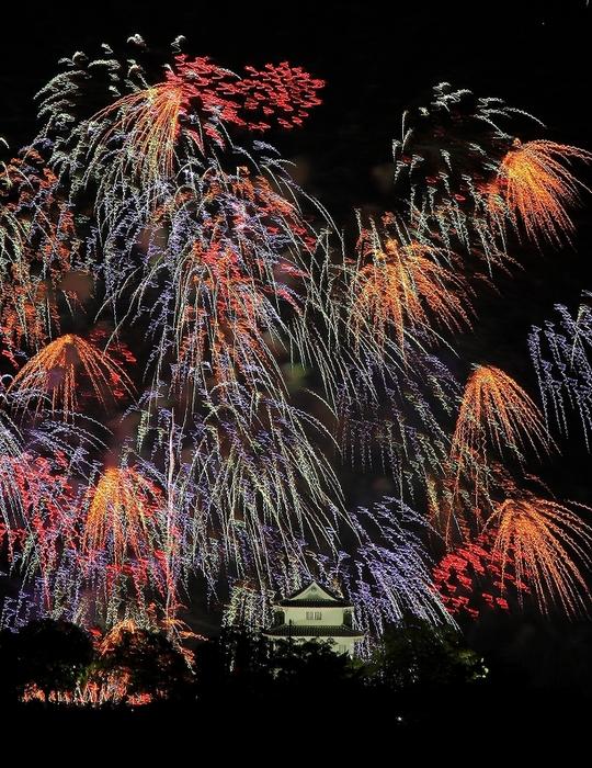 丸亀城と花火_c0247313_2339247.jpg