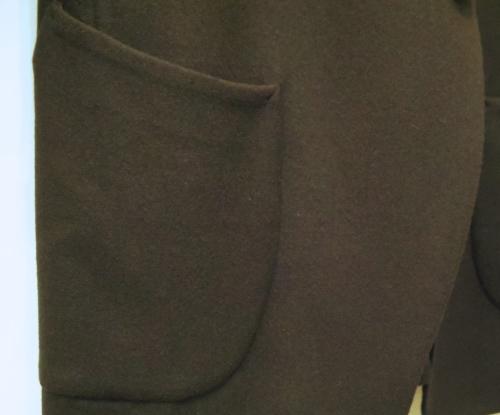 m\'s braque(エムズ・ブラック)ネイビーフランネルシームレスジャケット_c0118375_15250226.jpg
