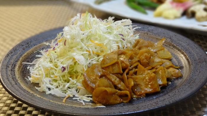 砂肝のサラダ&銀鱈の味噌漬け_b0290816_20261528.jpg