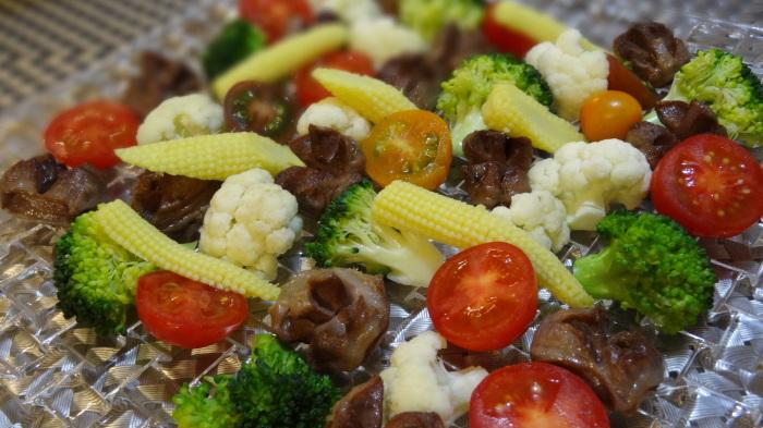 砂肝のサラダ&銀鱈の味噌漬け_b0290816_20262605.jpg