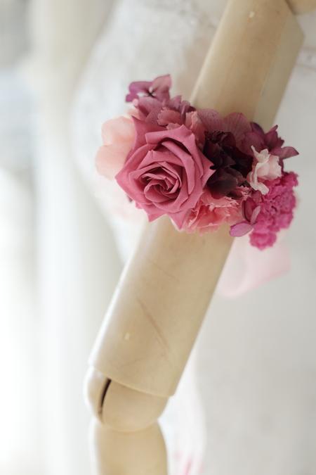新郎新婦様からのメール アームレット 二の腕に飾る花 ペニンシュラ様へ_a0042928_15521446.jpg