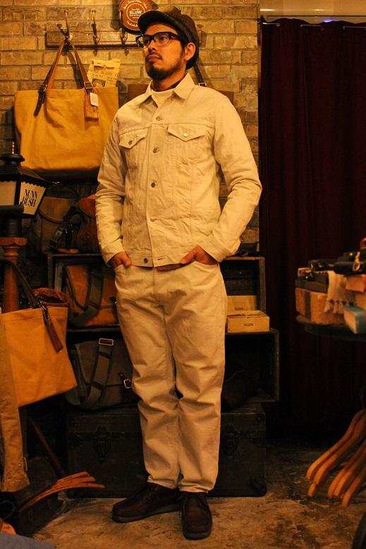 "ANACHRONORM \""White Denim Jacket & Pants\"" ご紹介_f0191324_9533915.jpg"