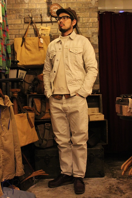 "ANACHRONORM \""White Denim Jacket & Pants\"" ご紹介_f0191324_953488.jpg"