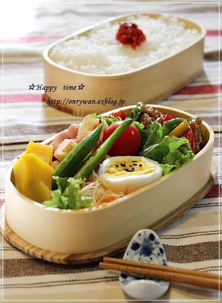 チンジャオロース弁当とココア角食♪_f0348032_18202702.jpg