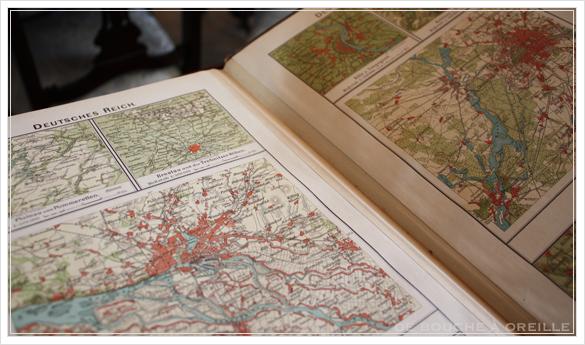 SCHUL-ATLAS ドイツ製の古い地図帳_d0184921_1427110.jpg