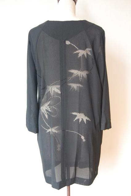 着物リメイク・絽で作ったブラウスコート_d0127925_12381114.jpg