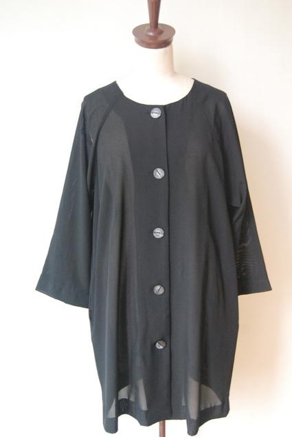 着物リメイク・絽で作ったブラウスコート_d0127925_1240548.jpg