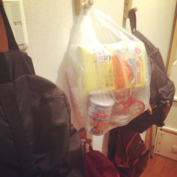 避難袋 どこに置いていますか?_e0303386_14482582.jpg