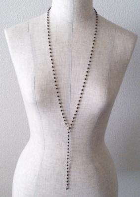 ブラックスピネル2ウェイネックレス こんな着け方も素敵です。_b0278339_11254127.jpg