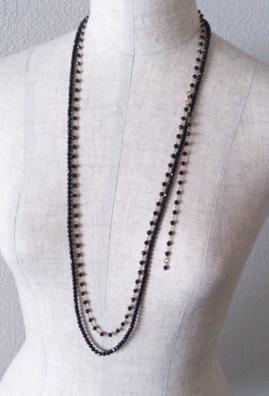 ブラックスピネル2ウェイネックレス こんな着け方も素敵です。_b0278339_11255566.jpg
