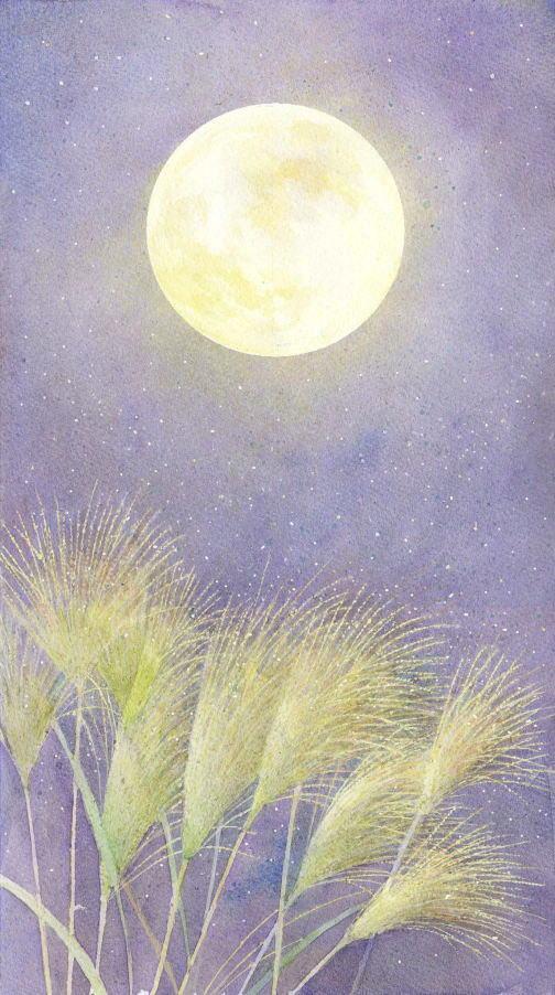 中秋の名月 福井良佑の水彩画 Watercolor Terrace