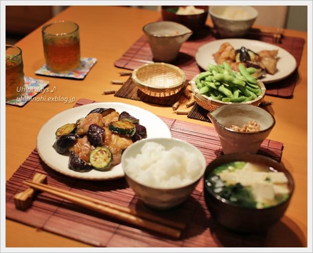 なすとズッキーニと鶏肉の甘辛さっぱり炒め_f0179404_654304.jpg