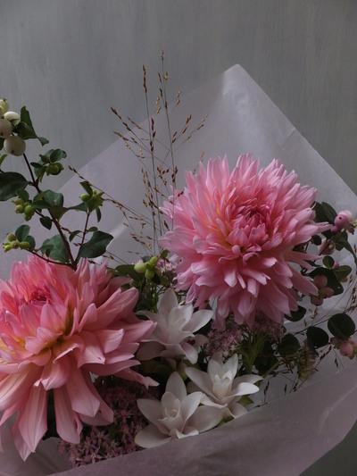 オークリーフ(クルクマを入れた季節の花束)_f0049672_16124482.jpg