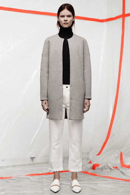 T BY ALEXANDER WANG COTTON NEOPRENE COAT GREY:SORRY,SOLD OUT!_f0111683_12015491.jpg