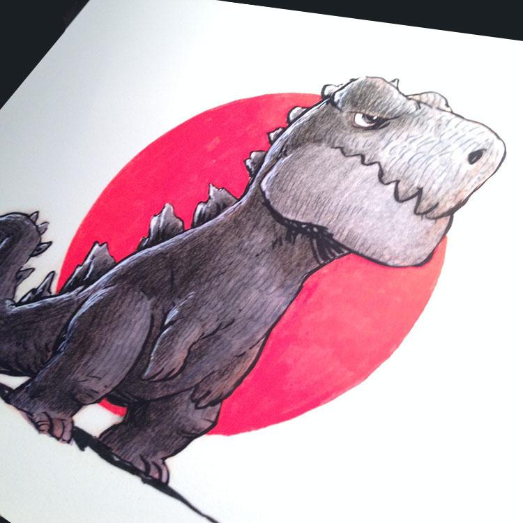 漫画家ジェイク・パーカーのゴジラ・ポスター大量入荷_a0077842_01536100.jpg