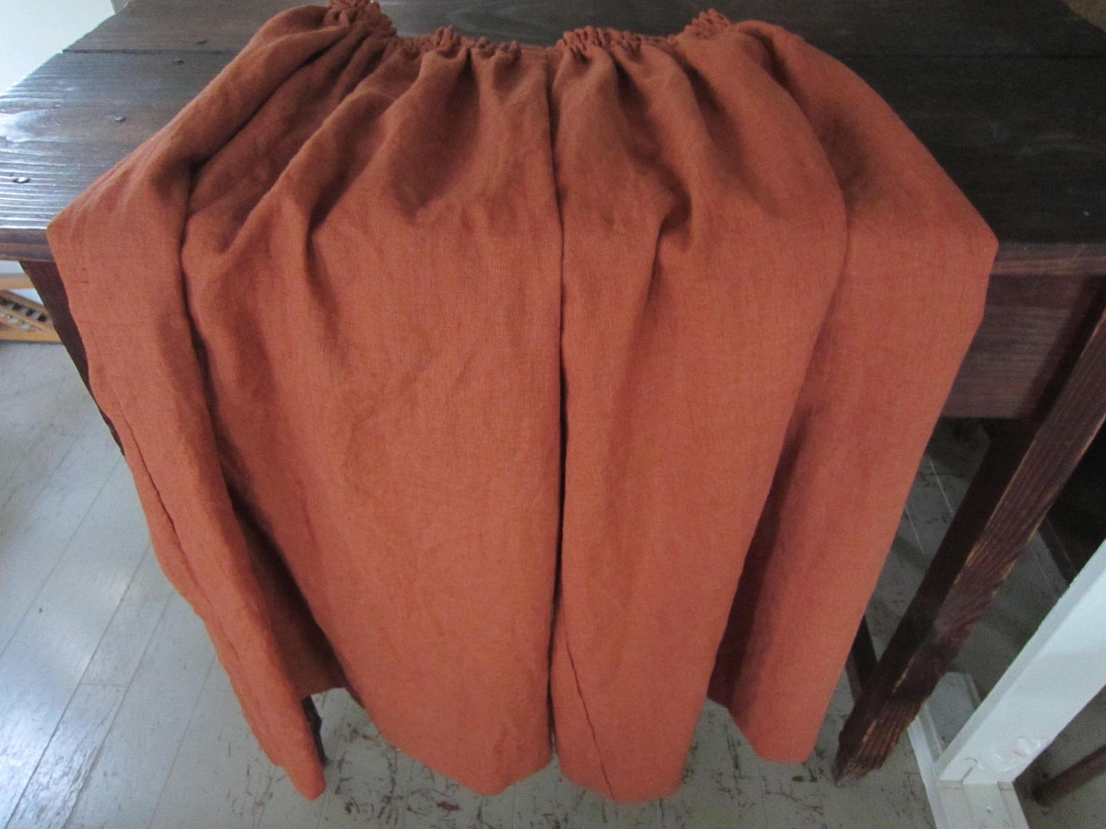 オレンジのキュロットスカート&『古い布でつくる』/山中とみこさん_b0207631_9405378.jpg
