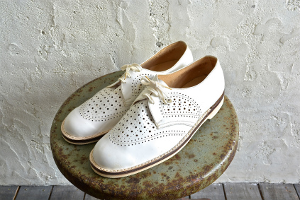 Czech army white punching leather shoes dead stock_f0226051_18482389.jpg