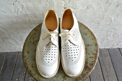 Czech army white punching leather shoes dead stock_f0226051_18483780.jpg