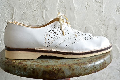 Czech army white punching leather shoes dead stock_f0226051_18485426.jpg