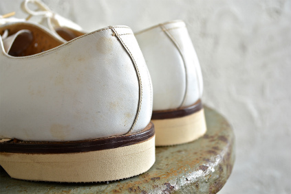 Czech army white punching leather shoes dead stock_f0226051_18494939.jpg