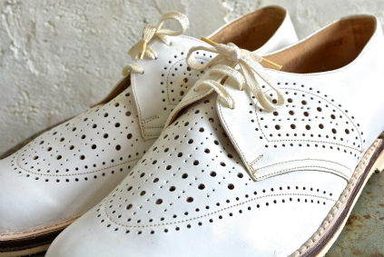 Czech army white punching leather shoes dead stock_f0226051_1849798.jpg