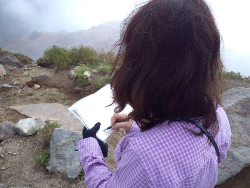 焼岳から上高地を望む(水彩画)_e0233674_2163191.jpg