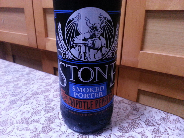 今夜のビールVol.171 ストーン・ブリューイング スモークドポーターチポトレ 650ml ¥1,630_b0042308_135679.jpg