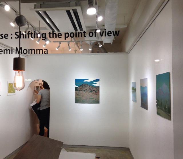 門馬英美展 Pause : Shifting the point of view@搬入_e0272050_21575295.jpg