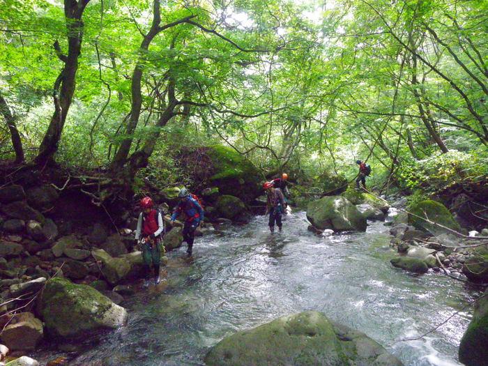 吾妻の不動沢で水遊び ~ 2014年9月6日_f0170180_19195414.jpg