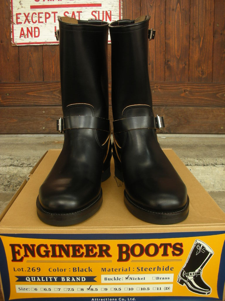 ATTRACTIONS Lot.269 ENGINEER BOOTS(STEER HIDE)_c0187684_1865993.jpg