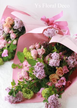 チェリーピンクのドレスに ピンク色のバラブーケ_b0113510_15222070.jpg
