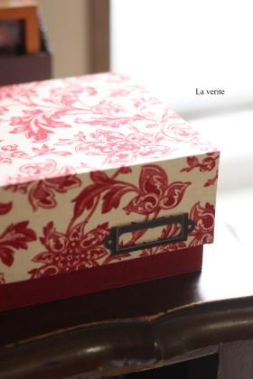 上級・底に蝶番のある箱・・・★カルトナージュ教室_e0196339_23314517.jpg